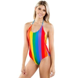 Tipsy Elves Rainbow One Piece Swim Suit